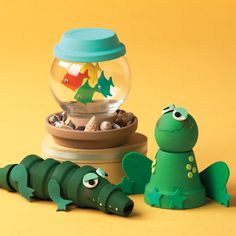 Pots of Fun for Everyone Water Animals  #claypot #craft