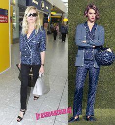 Kirsten Dunst de camino a Cannes (en pijama de Louis Vuitton)