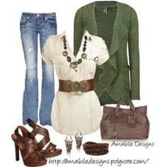FALLing in love with this look. Slight change would be the jeans-they need to be a darker. Shoes are cute for late summer/early fall. For the late fall pair this look with a nice boot.