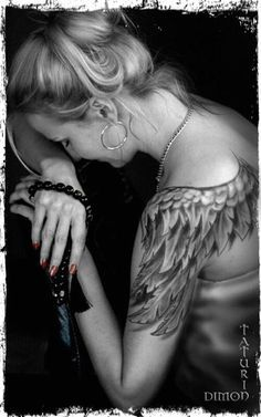 I want this Tattoo!!! I've been wanting Angel Wings for a long time this is perfect