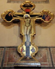 Niccolò di Pietro Gerini e Pietro Nelli - Crocifissione, dettaglio -  Cappella Castellani, Basilica di Santa Croce, Firenze