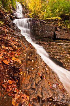 Lye Brook Falls, near Manchester, Vermont.