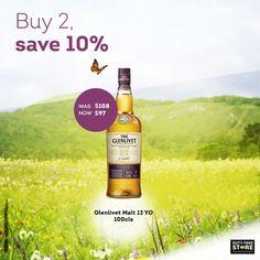 Save 10% on one of the finest you'll ever taste. #glenlivet #whisky