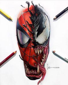Un bien joli fan art de : spidey venom marvel ta Spiderman Tattoo, Spiderman Drawing, Venom Spiderman, Marvel Tattoos, Spiderman Art, Rap Wallpaper, Marvel Wallpaper, Venom Tattoo, Graffiti Doodles