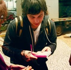 Frank Iero-- I want to meet him so bad but he lives ACROS THE FREAKING COUNTRY! Ugh. Does anybody know if he takes fan mail?
