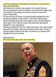 Funny Pictures : This is why you don't mess up with a high school teacher who used to be a Marine...