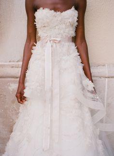dress by monique lhuillier. photo by elizabeth messina.