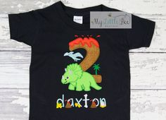 Triceratops Dinosaur 2nd Birthday Shirt, Personalized Dinosaur Birthday Shirt, Dino Birthday Shirt, Boy's Dino Shirt