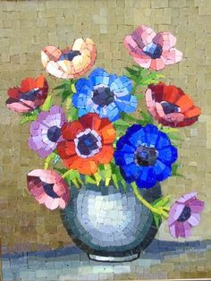 Buy online, view images and see past prices for Savelli Italian Mosaic Tile Floral Arrangement. Invaluable is the world's largest marketplace for art, antiques, and collectibles. Mosaic Tile Art, Mosaic Birds, Mosaic Artwork, Mosaic Flowers, Mosaic Crafts, Mosaic Projects, Mosaic Glass, Mosaic Designs, Mosaic Patterns