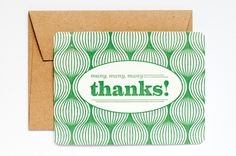 Letterpress Kaart | Many many Thanks | ♥ Post me | Dreamkey Design