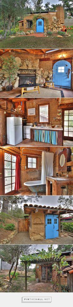 510 sq ft Adobe Brick House in Santa Barbara Ca - http://smallhouseswoon.com/small-adobe-brick-house/