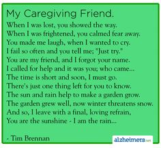 My Caregiving Friend #caregiver #caregiving