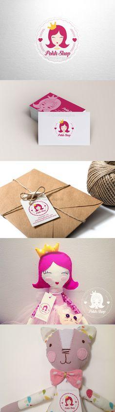 #handmade #doll #princess #brand #branding #logo #baby #children #kids #cute #sweet #pink #logodesign #behance #brandstack #dribbble #rugdoll #fabricdoll #fashion Brand for Pohh Shop : Logo , business cards, tag, stickers, watermark  https://www.facebook.com/pohh.shop