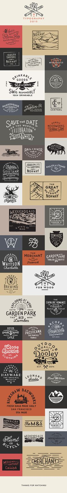 These are some good example of rustic/masculine fonts and logos to refer to. Reference: Logos & Typography 2015 on Behance Packaging Inspiration, Inspiration Logo Design, Webdesign Inspiration, Typography Inspiration, Design Ideas, Design Web, Type Design, Typo Logo, Logo Branding