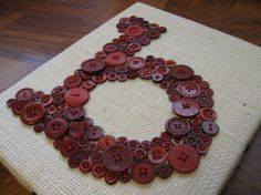 Button Letters on Canvas. Doing something very similar to this on Monday for the boys room.