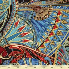 Valley of the Kings Cotton Fabric - Jewel -