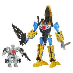 Target : Transformers Age of Extinction Construct-Bots Silver Knight Optimus Prime and Grimlock Set : Image Zoom