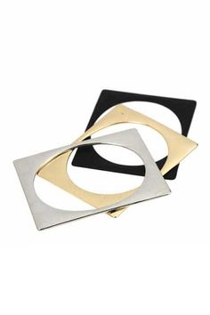 Slim Square Metal Bracelet  #Romwe