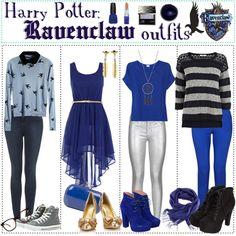 """""""Harry Potter: Ravenclaw Outfits"""" by roseygal16 ❤ liked on Polyvore"""