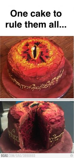 I so, so want an Eye of Sauron cake :D