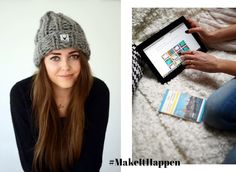 Jestem Kasia: Hand knitted beanie & MakeItHappen opportunity