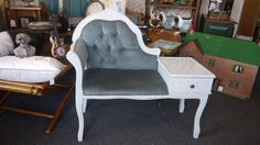 upcycled hand painted shabby chic telephone table by lovvedup, £65.00