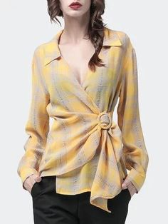 Blouse Styles, Blouse Designs, Work Tops, Work Blouse, Blouses For Women, Designer Dresses, Fashion Dresses, Trends, Womens Fashion