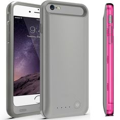 "iPhone 6 Plus Battery Case KINGCOOL(TM) 3100mAh External Rechargeable Portable Charger Backup Power Bank Battery Pack Cover Cases Fit for Apple iPhone 6 5.5"" 2014 Release(Gray and Rose) Powerful 3100mAh Li-polymer rechargeable battery can effectively provide 100%+ extra battery life for your iPhone 6 plus,Only compatible with the 5.5 inch model Check power status at a glance with an integrated 4-light LED status indicator Built in short circuit and over charge protection"