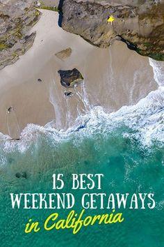 15 Best Weekend Getaways in California Cheap Weekend Getaways, Weekend Getaways For Couples, Best Weekend Getaways, Weekend Vacations, Best Vacations, Vacation Spots, Honeymoon Spots, Greece Vacation, Weekend Packing