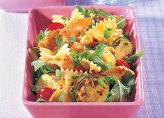 Poulet en lanières, pâtes aux courgettes et roquette //Chicken strips, pasta with zucchini and arugula #recipe