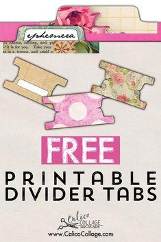 Printable Divider Tabs