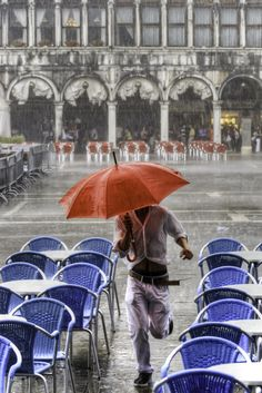 Escaping the rain in St Marks Square, Venice, Italy by Paul Stoakes on 500px