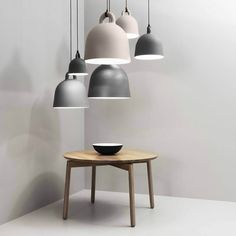 Normann Copenhagen Contemporary Bell Pendant Light with Fabric Cord | Stardust