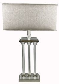 RV Astley Elin Nickel and Crystal Table Lamp