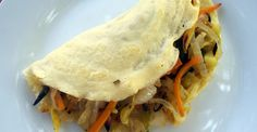 Savory Crepes With Garlic and Rosemary Roasted Veggies