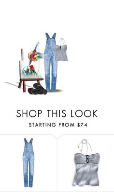 """Art Class..."" by maryv-1 ❤ liked on Polyvore featuring Citizens of Humanity, Sperry and Havaianas"