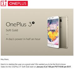 OnePlus Will Launch Soft Gold OnePlus 3T On January 6th #CES2017 #Android #Google