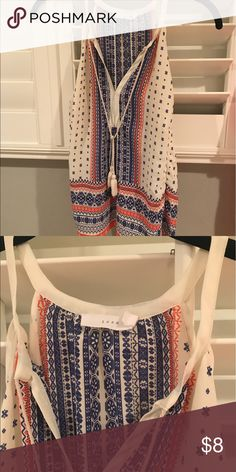 Lush tribal style printed top w/ tassels Only worn a few times, perfect condition, perfect for summer Lush Tops Tank Tops