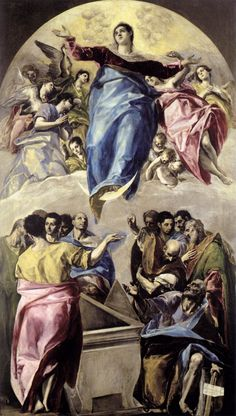 la asuncion de la virgen el greco