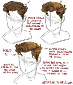 "artofpan: "" @theamazingartofescapism asked me about how I draw hair. I'm sure I missed out heaps of stuff but in general this is how I approach it. Hope it's helpful :D """