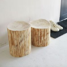 Wood Logs, Wood Stool, Restaurant Kitchen, Make It Yourself, Living Room, Chair, Interior, Table, Inspiration