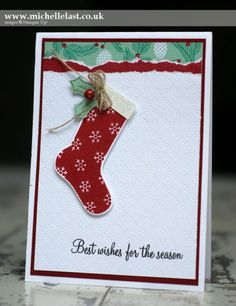 Christmas Card using Hang your Stocking - with Michelle Last