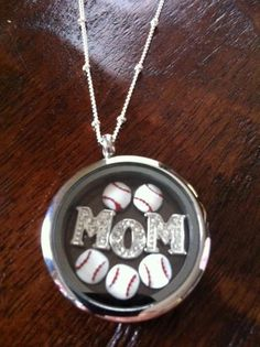 Baseball Moms show their pride all year long! Origami Owl Large Silver Living Locket, Baseball Charms and M O M Initials hang from a Silver Ball Station Chain. You can& go wrong with this look! Baseball Jewelry, Baseball Crafts, Baseball Boys, Softball Mom, Baseball Games, Baseball Jerseys, Baseball Stuff, Softball Stuff, Volleyball