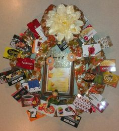 Wilton celebration tree amazon kitchen dining gift card gift card wreath friends collected gift cards for boss negle Gallery