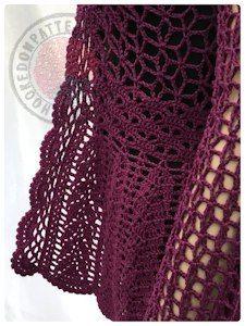 lace cardigan crochet pattern from hookedonpatterns.com