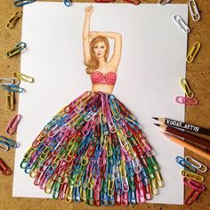 Armenian Fashion Illustrator Creates Stunning Dresses From Everyday Objects Pics) illustration dibujos Armenian Fashion Illustrator Creates Stunning Dresses From Everyday Objects Pics) Fashion Design Drawings, Fashion Sketches, Fashion Illustrations, Fashion Illustration Collage, Tattoo Familie, Creative Artwork, Everyday Objects, Everyday Items, Stunning Dresses