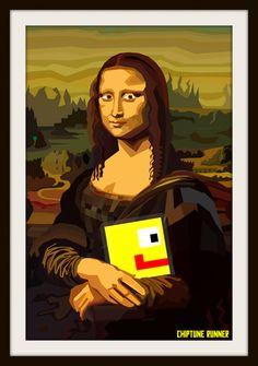 Chiptune Runner Mona Lisa Concept