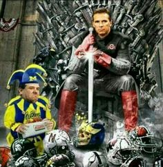 No words necessary. Lol. The king with a peasant beneath his feet!!!