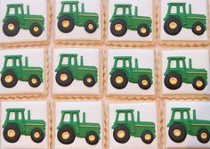 Tractor cookies by Miss Biscuit