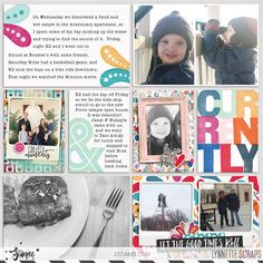 digital scrapbook project life pocket style layout created with Storyteller 2016: February Quick Pocket Frames Add-on and Storyteller 2016 February Collection by Just Jaimee
